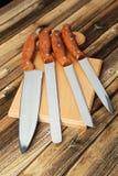 Insieme dei knifes della cucina Immagini Stock