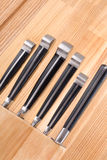 Insieme dei knifes della cucina isolati su bianco Fotografia Stock