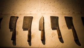 Insieme dei knifes medioevali Fotografia Stock Libera da Diritti