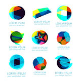 Insieme dei logotypes astratti differenti di vettore Fotografia Stock Libera da Diritti