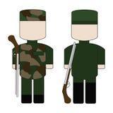 Insieme dei militari semplici piani immagine stock