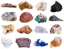 Insieme dei minerali della roccia Fotografie Stock Libere da Diritti