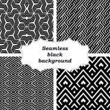 Insieme dei modelli in bianco e nero Fotografia Stock