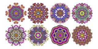 Simbolo indiano spirituale decorativo del cerchio di loto - Modello di base del fiore ...