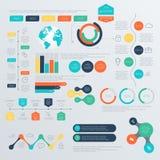 Insieme dei modelli di progettazione di Infographic di cronologia Immagine Stock Libera da Diritti