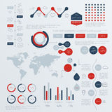 Insieme dei modelli di progettazione di Infographic di cronologia Fotografia Stock