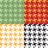 Insieme dei modelli geometrici senza cuciture con effetto di lerciume Immagine Stock