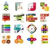 Insieme dei modelli infographic moderni di progettazione royalty illustrazione gratis