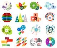 Insieme dei modelli infographic moderni di progettazione illustrazione vettoriale