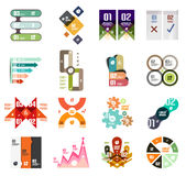 Insieme dei modelli infographic moderni di progettazione Immagini Stock