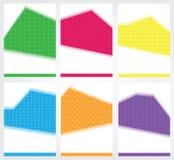 Insieme dei modelli moderni per l'opuscolo, insegne, alette di filatoio Forme geometriche semplici bianche per testo Fotografia Stock Libera da Diritti