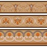 Insieme dei modelli romani antichi del confine degli ornamenti Immagine Stock