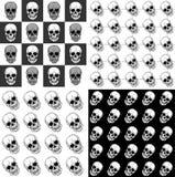 Insieme dei modelli senza cuciture con i crani Fotografie Stock Libere da Diritti