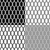 Insieme dei modelli senza cuciture con le corde illustrazione di stock