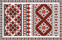 Insieme dei modelli tradizionali ucraini senza cuciture Fotografia Stock