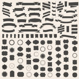 Insieme dei nastri e del telaio, distintivo, etichetta Modelli di vettore per la vostra progettazione Fotografia Stock