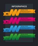Insieme dei nastri Progettazione di Infographic, 4 opzioni Immagine Stock