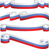 Insieme dei nastri russi nei colori della bandierina. Immagine Stock