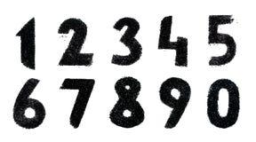 Insieme dei numeri neri maded dalle perle ed isolati su fondo bianco Fotografia Stock Libera da Diritti