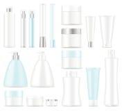 Insieme dei pacchetti cosmetici Fotografia Stock