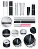 Insieme dei pacchetti cosmetici Fotografie Stock
