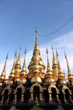 Insieme dei Pagodas Immagine Stock Libera da Diritti