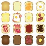 Insieme dei pani tostati Immagine Stock Libera da Diritti