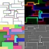 Insieme dei pannelli quadrati astratti Illustrazione di Stock