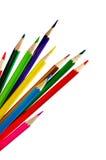 Insieme dei pastelli della matita di colore Fotografia Stock Libera da Diritti