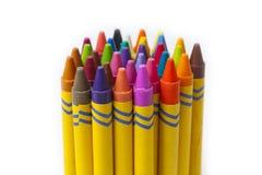 Insieme dei pastelli di coloritura della cera Fotografia Stock