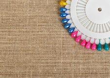 Insieme dei perni colorati Fotografie Stock