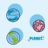 Insieme dei pianeti della galassia illustrazione di stock