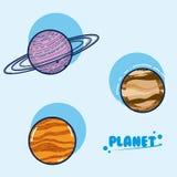 Insieme dei pianeti della galassia royalty illustrazione gratis