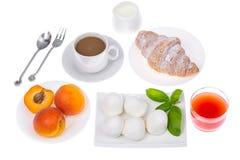 Insieme dei piatti sani della prima colazione Fotografia Stock Libera da Diritti