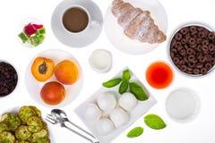 Insieme dei piatti sani della prima colazione Immagine Stock