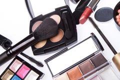 Insieme dei prodotti di bellezza cosmetici Fotografia Stock