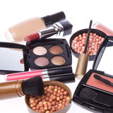 Insieme dei prodotti di bellezza cosmetici Fotografie Stock