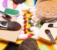 Insieme dei prodotti di bellezza differenti Fotografia Stock Libera da Diritti