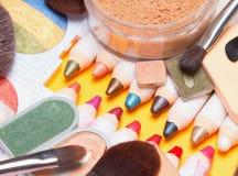 Insieme dei prodotti di bellezza differenti Immagini Stock Libere da Diritti