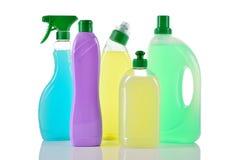 Insieme dei prodotti di pulizia. Domestici. Immagine Stock Libera da Diritti