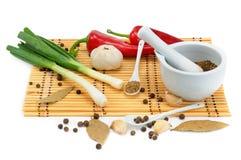 Insieme dei prodotti naturali isolati su fondo bianco Fotografia Stock