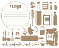 Insieme dei prodotti per cuocere royalty illustrazione gratis