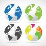 Insieme dei programmi del globo del mondo Fotografia Stock Libera da Diritti