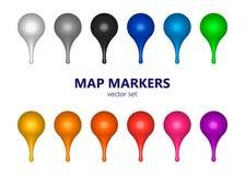 Insieme dei puntatori della mappa - vettore royalty illustrazione gratis