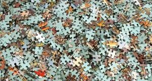 Insieme dei puzzle Fotografia Stock