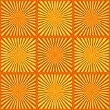 Insieme dei raggi gialli Illustrazione di vettore Retro priorità bassa dello sprazzo di sole Elemento di progettazione di lercium illustrazione di stock
