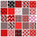 Insieme dei reticoli rossi e neri di celebrazione Fotografia Stock