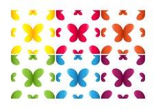 Insieme dei reticoli semless con le farfalle Immagini Stock Libere da Diritti