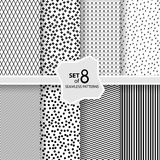 Insieme dei reticoli senza giunte geometrici Fotografia Stock Libera da Diritti