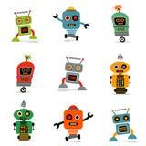 Insieme dei robot 1 Fotografia Stock Libera da Diritti